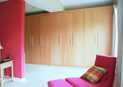 Contemporary Beech Wardrobe